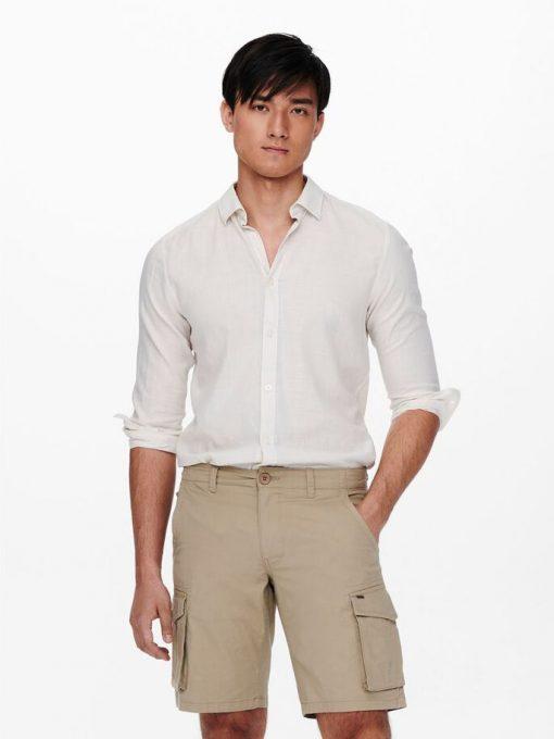 Only & Sons Keon Life Shirt Glacier Gray