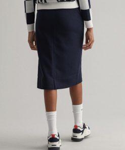Gant Woman Zip Jersey Skirt Evening Blue