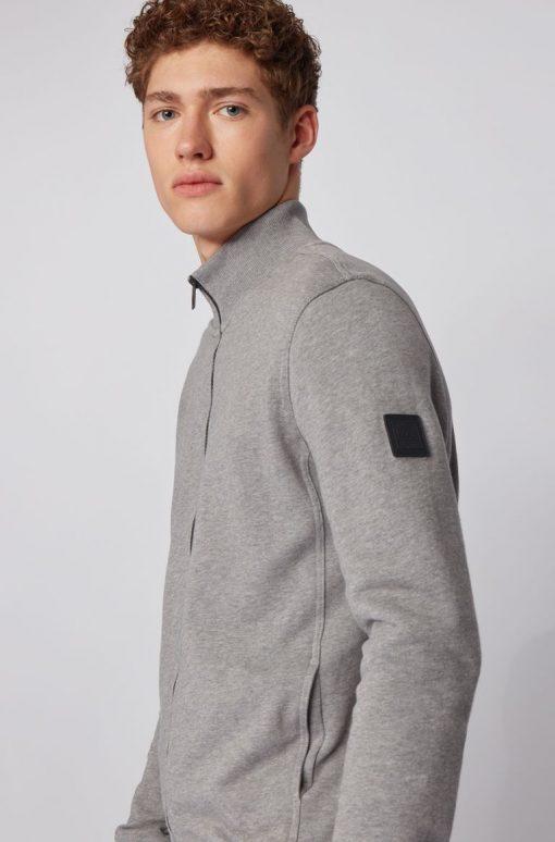 Hugo Boss Zkybox Jersey Cardigan Light Grey
