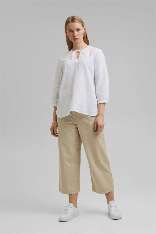 Esprit Cotton/Linen Blouse White