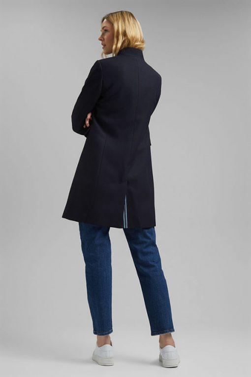 Esprit Pique Coat Navy