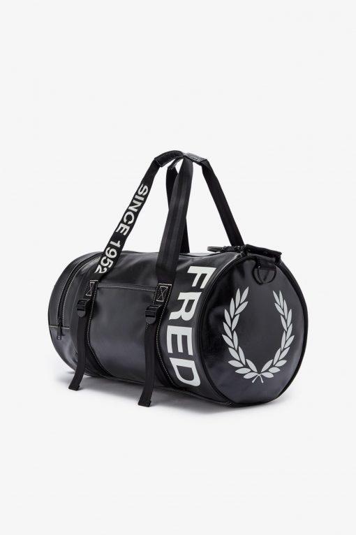 Fred Perry Laurel Wreath Barrel Bag Black