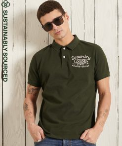 Superdry Superstate Polo Shirt Surplus Goods Olive