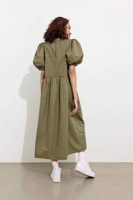 Envii Ensaffron Dress Deep Lichen Green