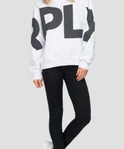 Replay Logo Sweatshirt White