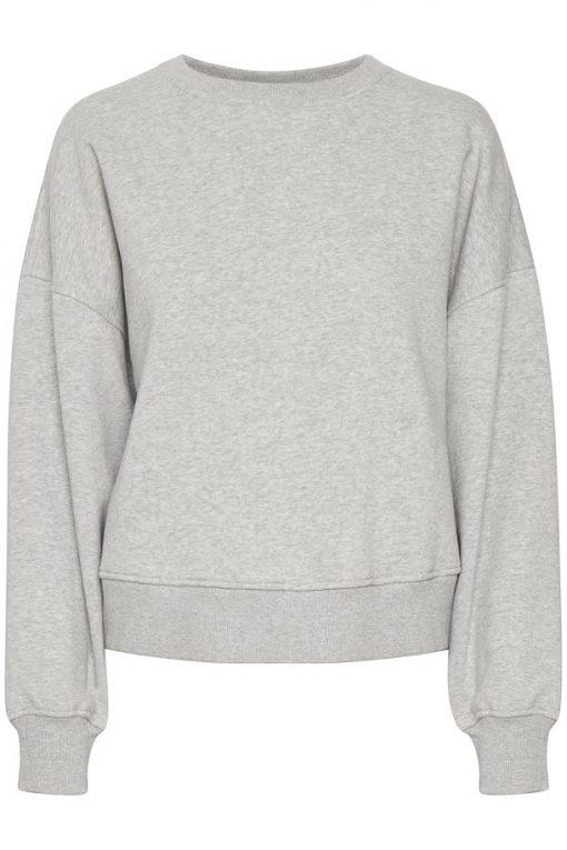 Gestuz Rubigz Sweatshirt Light Grey Melange