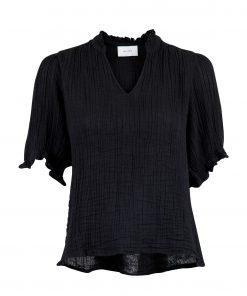 Neo Noir Odesa Gauze Blouse Black