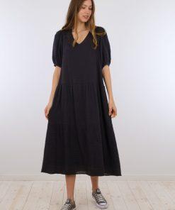 Neo Noir Denny Gauze Dress Black