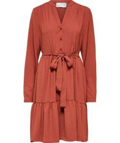 Selected Femme Mivia Short Dress Chili Oil
