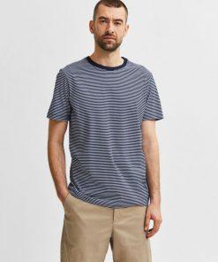 Selected Homme Norman Stripe T-shirt Navy Blazer