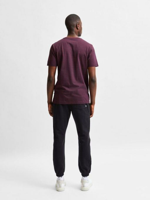 Selected Homme Norman Stripe T-shirt Winetasting