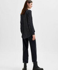 Selected Femme Ella-Odette Shirt Black