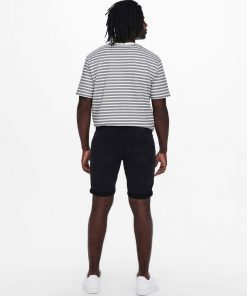 Only & Sons Ply Life Denim Shorts Black