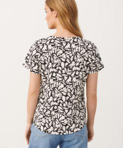 Part Two Gesina T-shirt Black Scratch Print