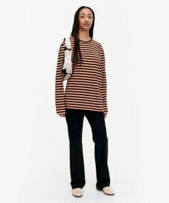 Marimekko Pitkähiha Tasaraita T-Shirt Brown