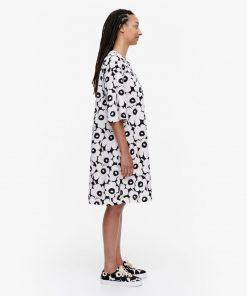 Marimekko Kultapiisku Mini Unikko Dress White
