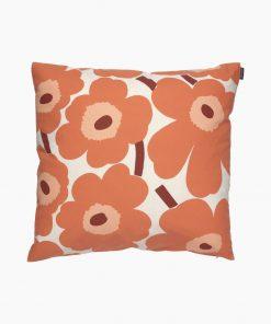 Marimekko Pieni Unikko Cushion Cover 50 x 50 cm Orange