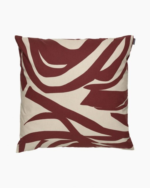 Marimekko Jokuraita Cushion Cover 50 x 50 cm Brown