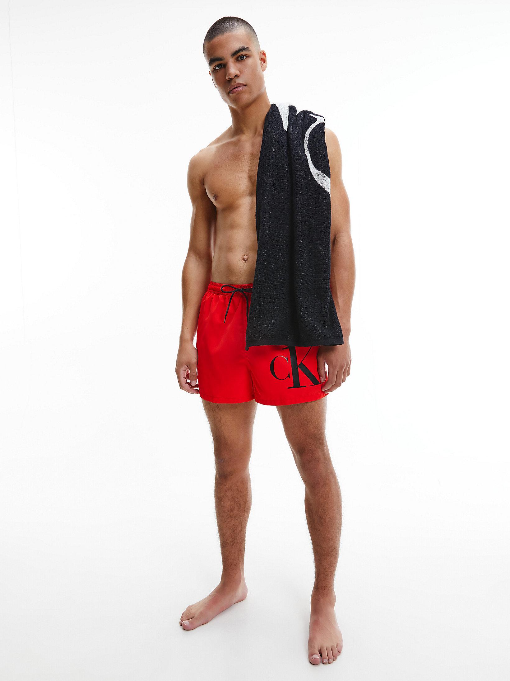 Calvin Klein Beach Towel Black