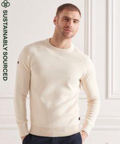 Superdry Essential Organic Cotton Crew Jumper Pale Marl