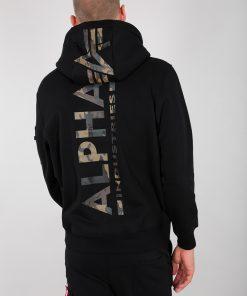 Alpha Industries Back Print Hoody Camo Print