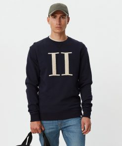 Les Deux Encore Bouclé Sweatshirt Dark Navy