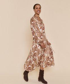 Mos Mosh Valley Poppy Dress Woodsmoke
