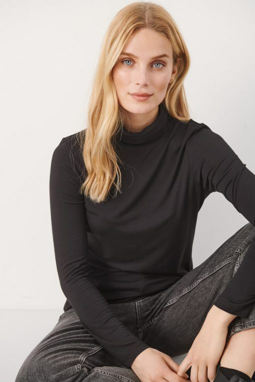 Part Two Efinas Rollneck T-shirt Black