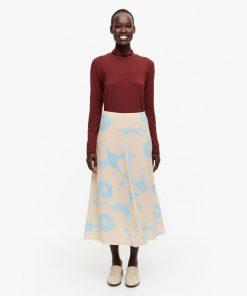 Marimekko Pieni Unikko Skirt Blue