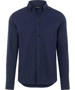 J.Lindeberg Light Flannel Shirt Navy