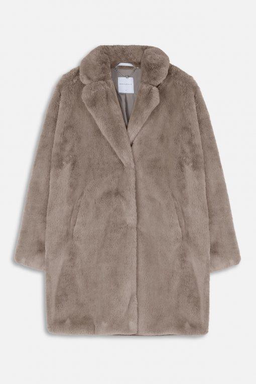 Rino & Pelle Joela Faux Fur Coat Silvercloud