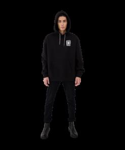 Makia Ögon Unisex Hooded Sweatshirt Black