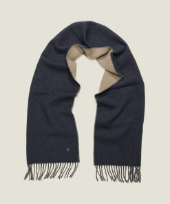 Morris Stockholm Double Face Scarf Navy