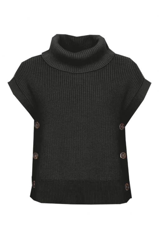 STI Rita Knit Vest Black