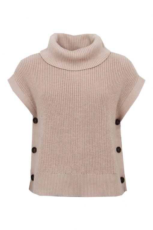 STI Rita Knit Vest Latte