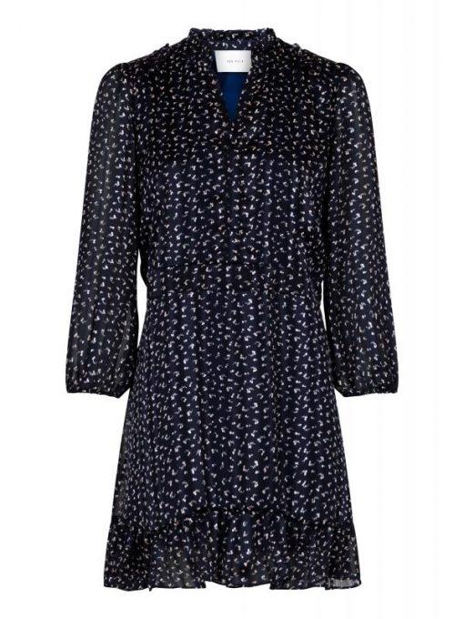 Neo Noir Hailey Spray Dot Dress Blue