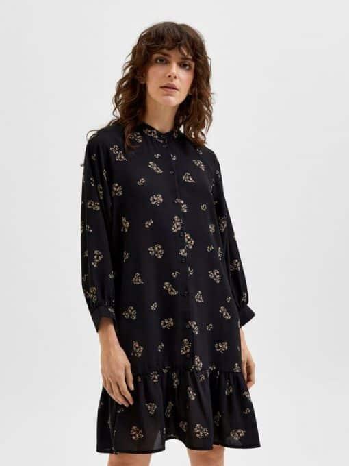Selected Femme Margunn Short Dress Black