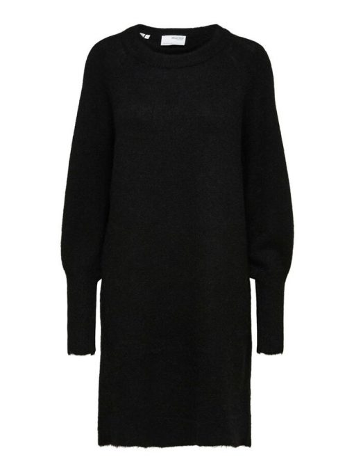 Selected Femme Lulu Knit Dress Black
