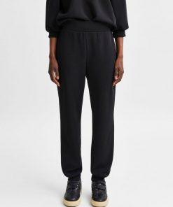 Selected Femme Tenny High Waist Sweat Pant Black