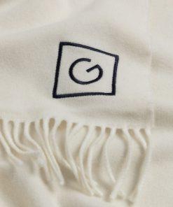 Gant Woman G Wool Scarf Cream