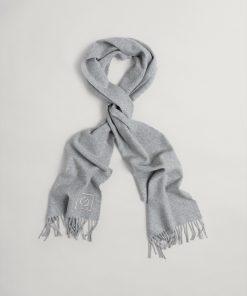 Gant Woman G Wool Scarf Light Grey Melange