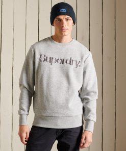 Superdry Core Logo Source Crew Sweatshirt Athletic Grey Marl