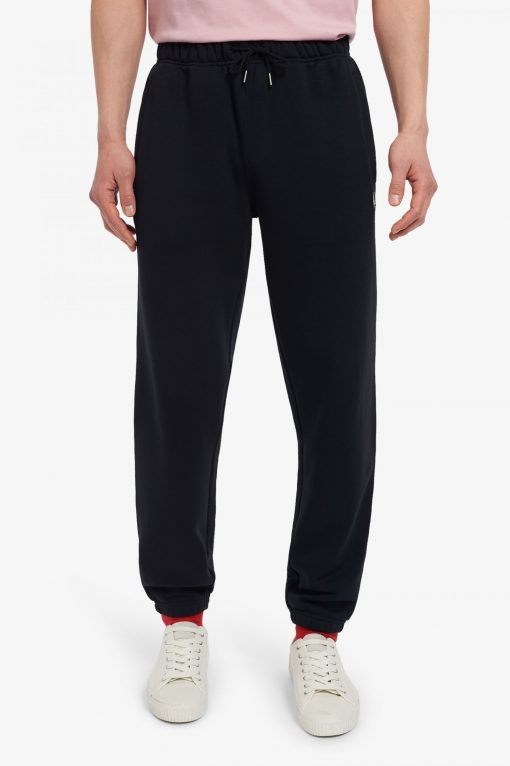 Fred Perry Loopback Sweatpants Black
