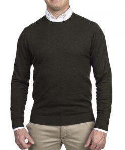 Hansen & Jacob Crewneck Sweater Alcantara E-P