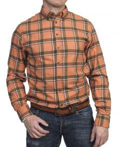 Hansen & Jacob Melton Big Square Shirt Orange