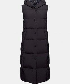 Esprit Long Down Vest Black