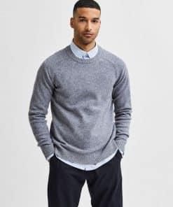 Selected Homme New Coban Lambswool Crew Medium Grey Melange