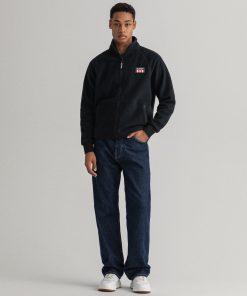 Gant Polar Fleece Jacket Black