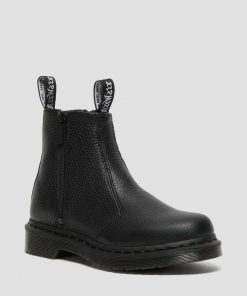 Dr. Martens 2976 Chelsea Boots With Zip Black Milled Nappa