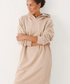 Part Two Luana Hoodie Dress Simple Taupe